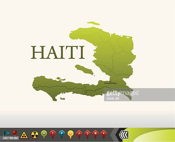 Haiti map with navigation icons