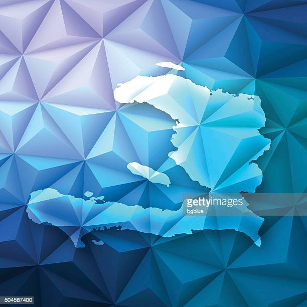 Haiti on Abstract Polygonal Background - Low Poly, Geometric