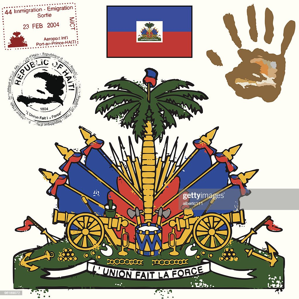 Haitian Flag Coat of Arms and graphic set
