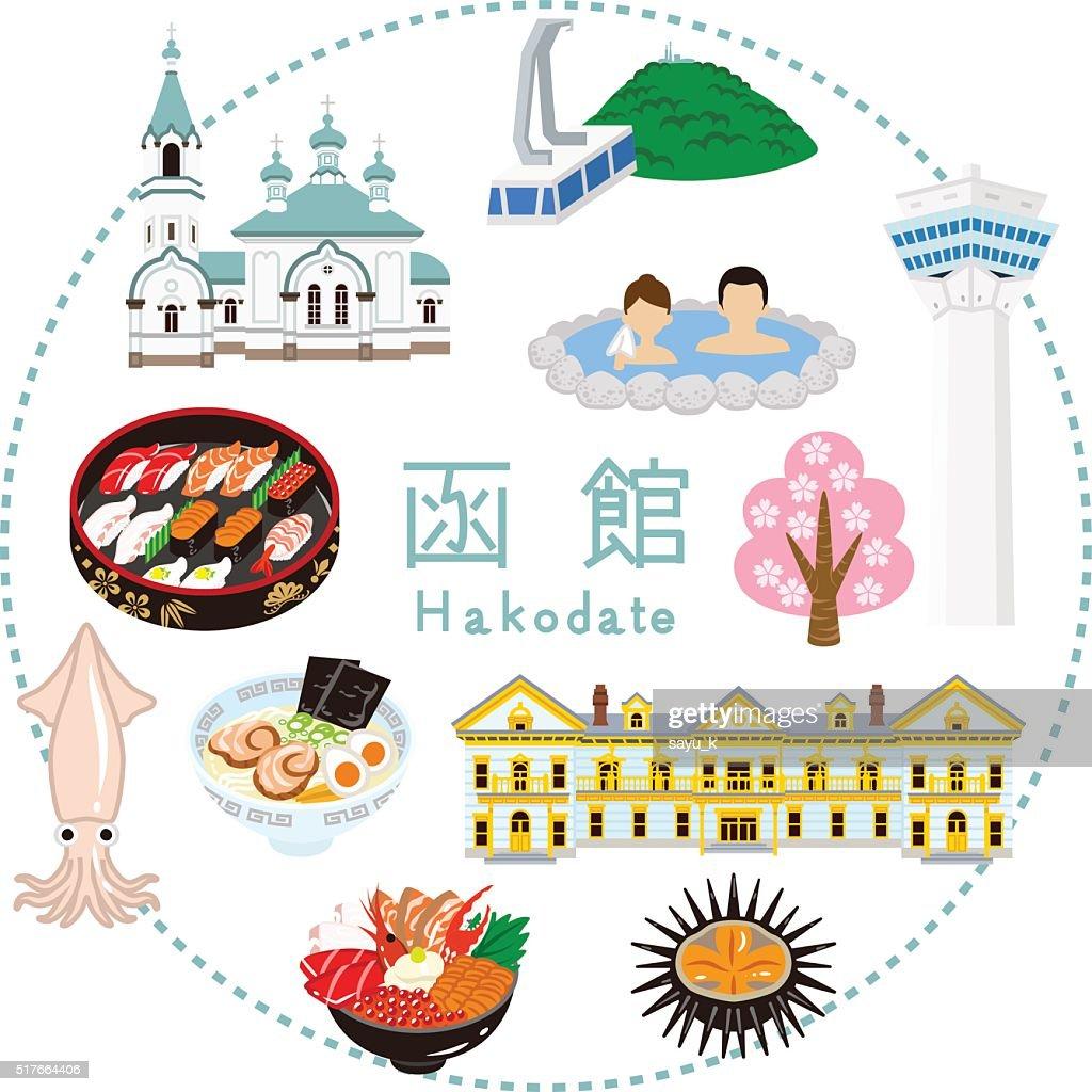 Hakodate Tourism -Flat icons