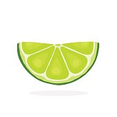 Half lime slices