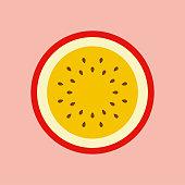 Half of passion fruit icon