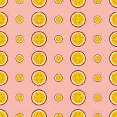 Half of passion fruit pattern
