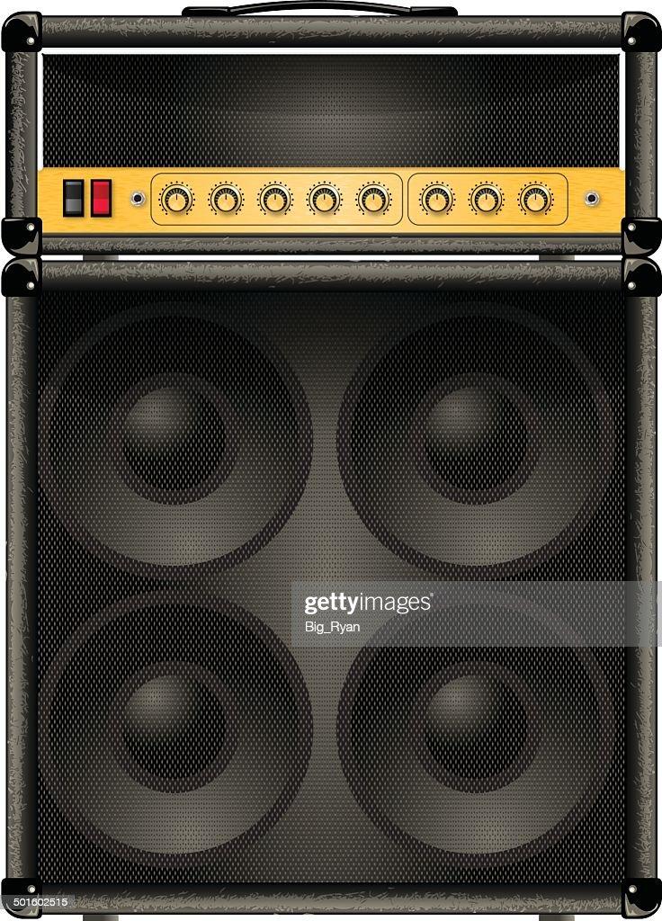 half stack guitar amp