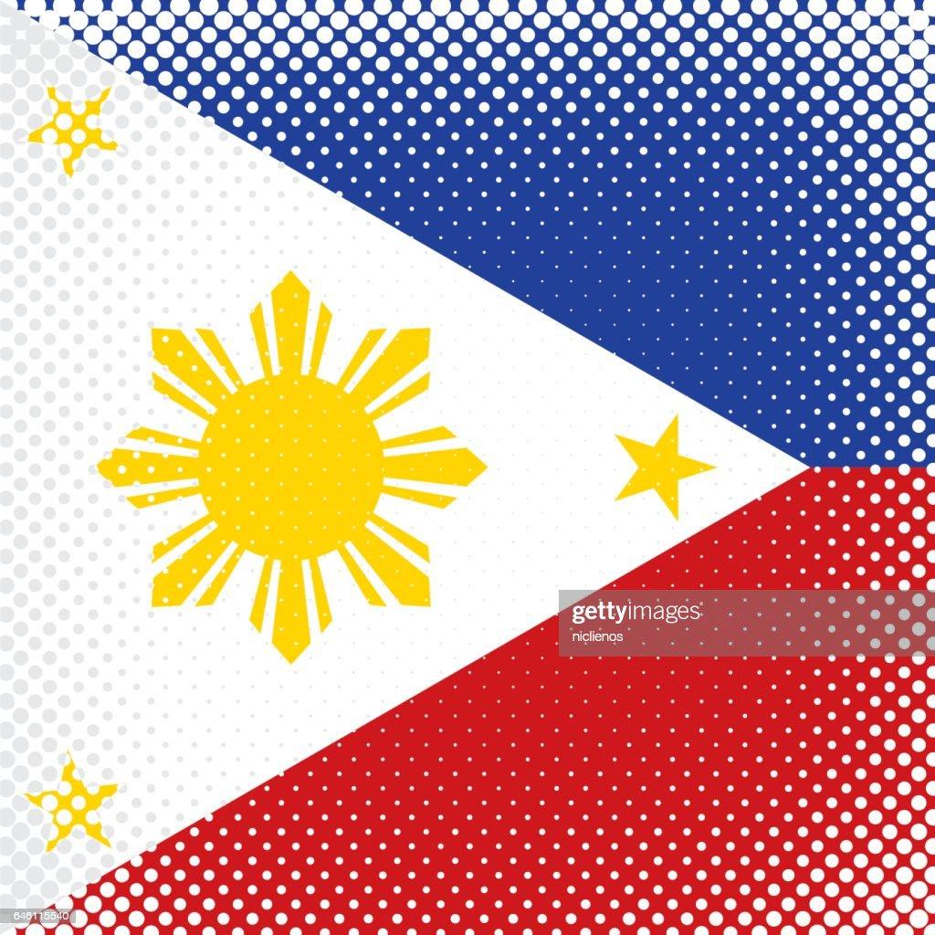 Half Tone Flag - Philippines