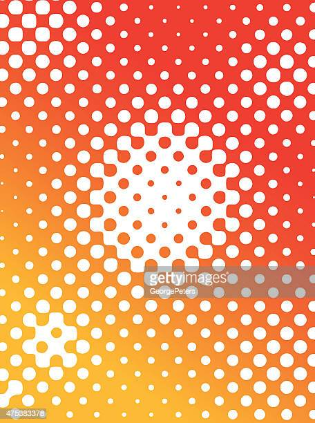Halfton Pattern Background Color