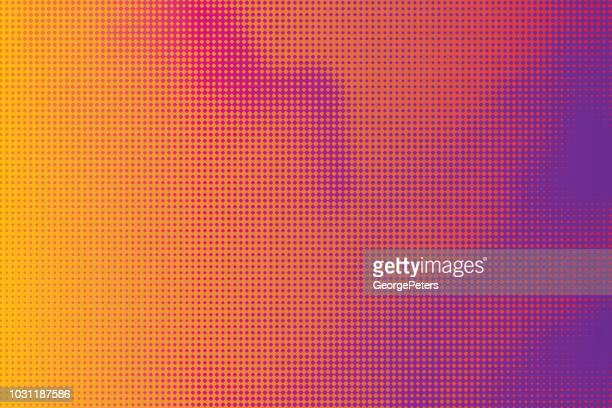 halftone abstract background of cloudscape - morphing stock illustrations