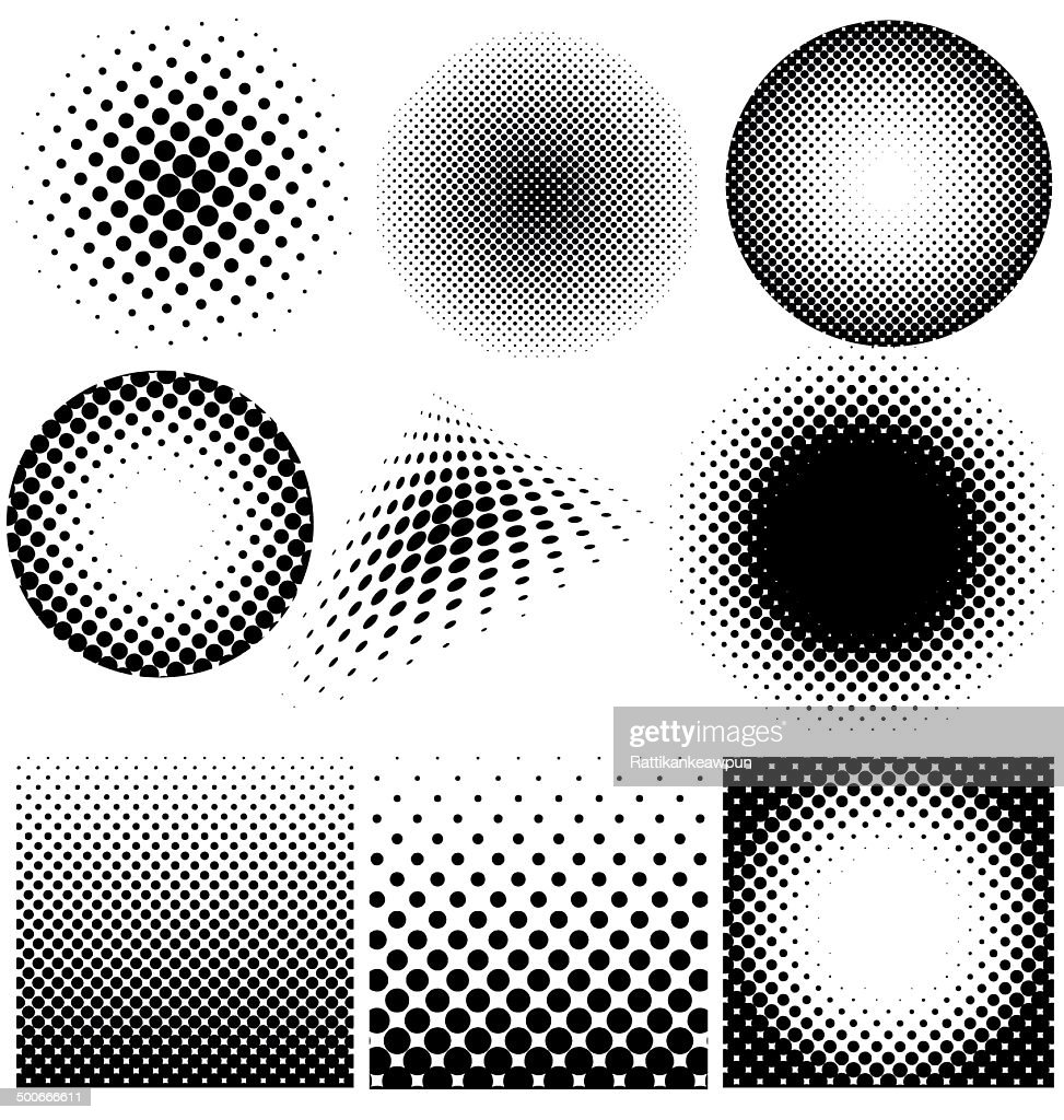 Halftone collection vector on white background