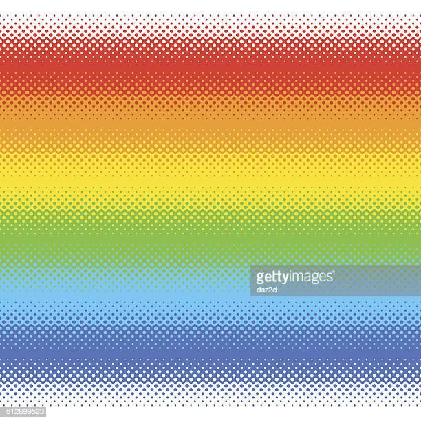 ハーフトーンカラーライン - レインボーフラッグ点のイラスト素材/クリップアート素材/マンガ素材/アイコン素材