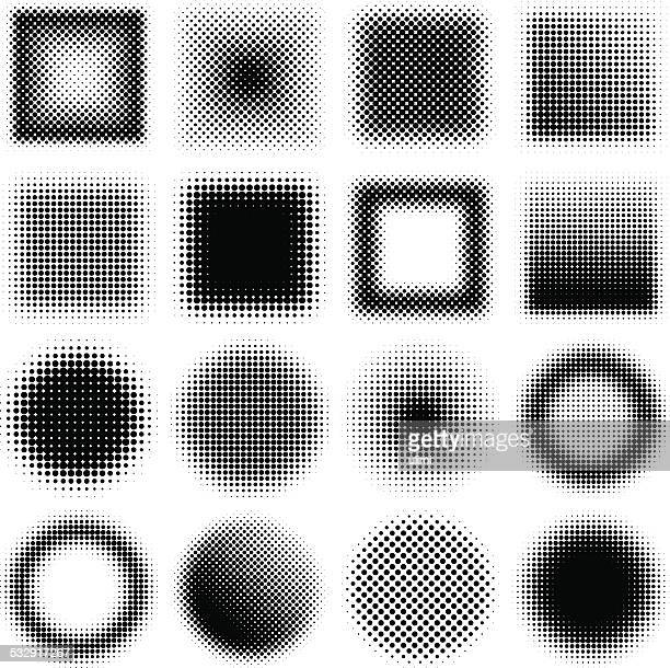 halftone design elements - half tone stock illustrations
