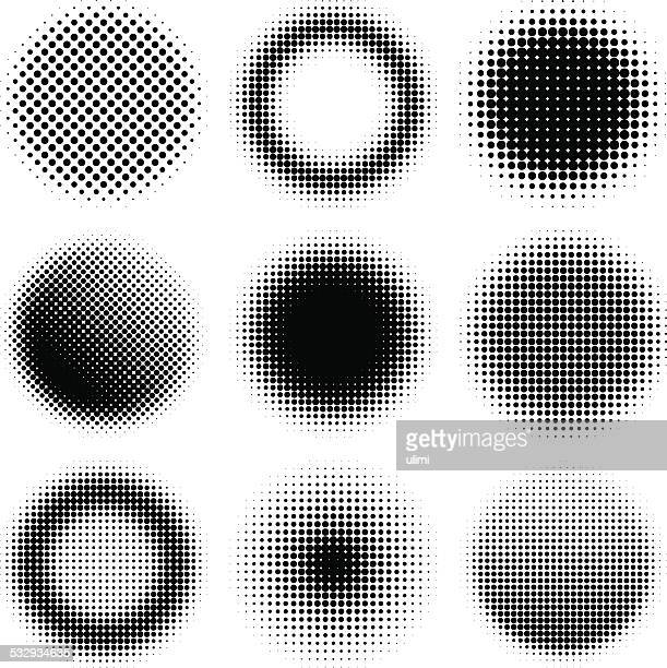 halftone design elements - circle stock illustrations