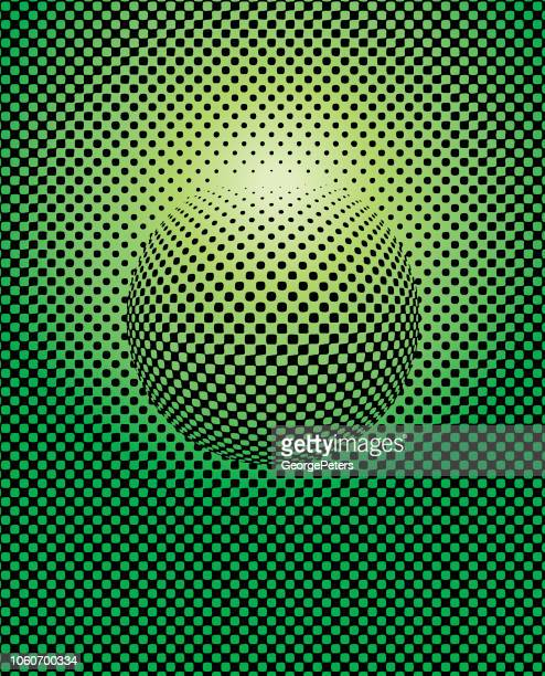 halftone dots circle abstract background - graphic print stock illustrations