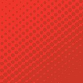 Halftone Dots on red Background.
