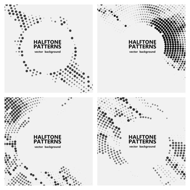 halftone dots pattern - swirl stock illustrations