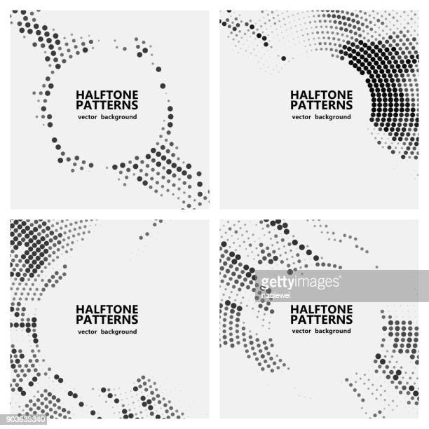 halftone dots pattern - half tone stock illustrations