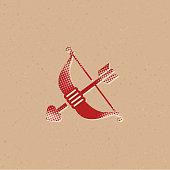 Halftone Icon - Arrow