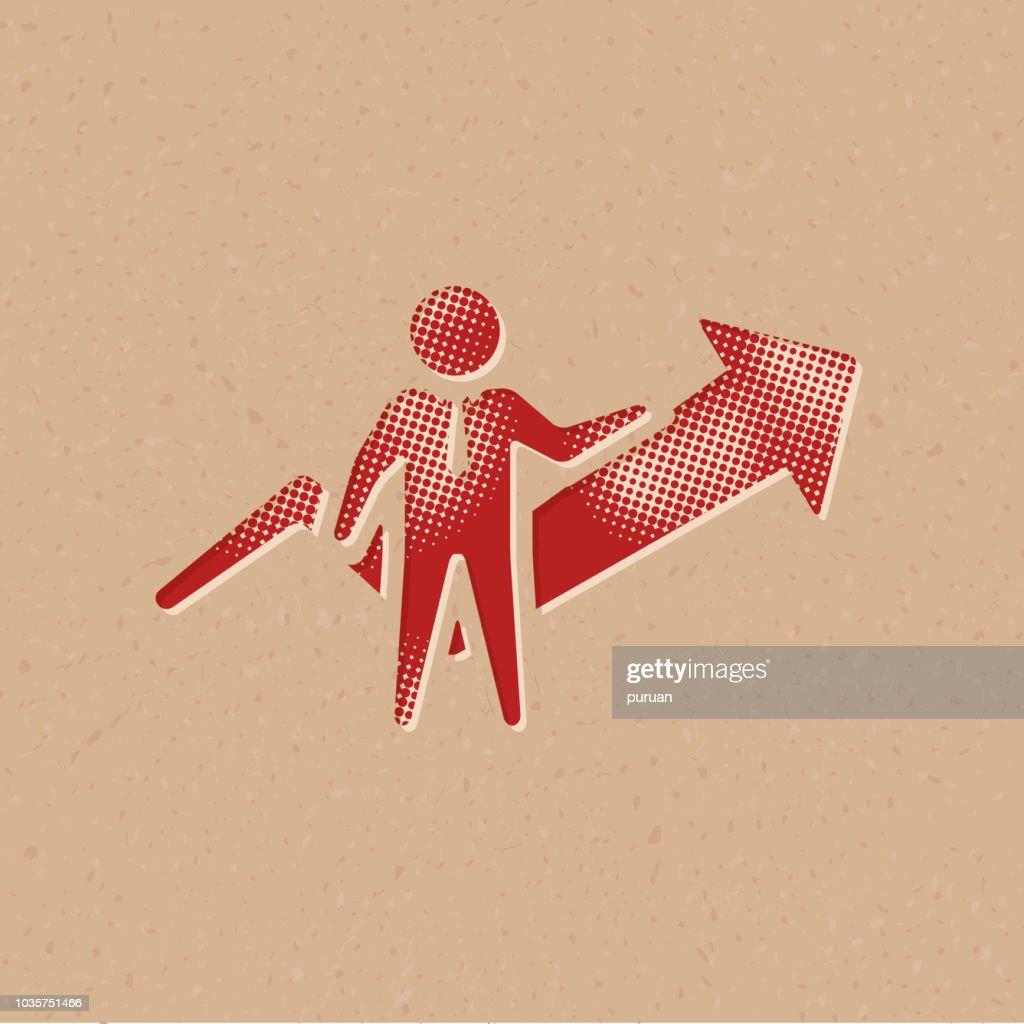 Halftone Icon - Businessman shart