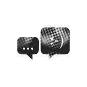 Halftone Icon - Chat bubbles