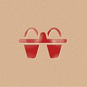 Halftone Icon - Egg cardbox