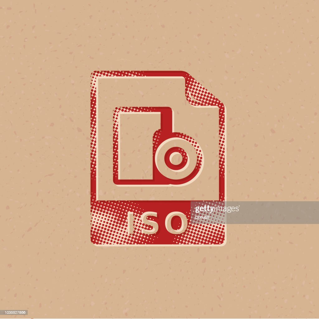 Halftone Icon - ISO file format