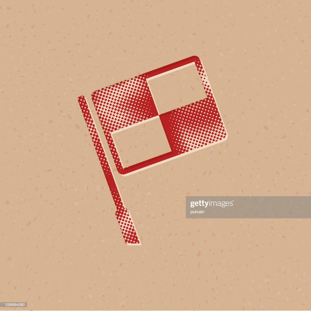 Halftone Icon - Lineman flag