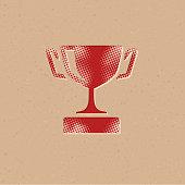 Halftone Icon - Trophy