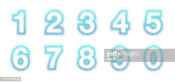 halftone numbers - number 3 stock illustrations