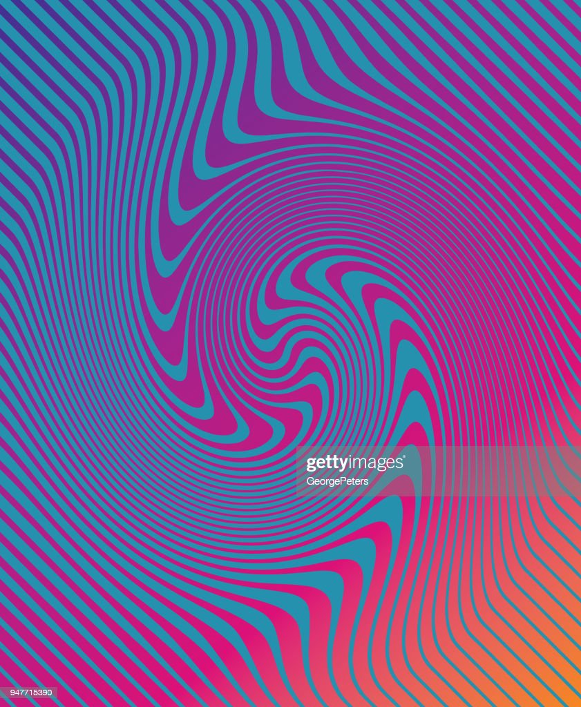 Halftone Pattern, Abstract Background of rippled, wavy lines : stock illustration