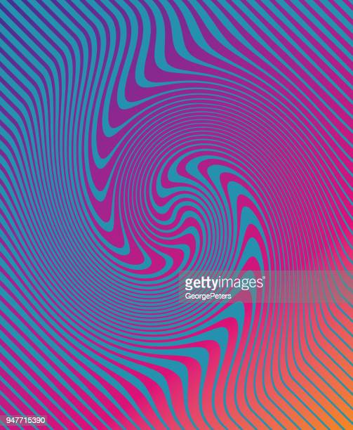 halftone pattern, abstract background of rippled, wavy lines - optical illusion stock illustrations