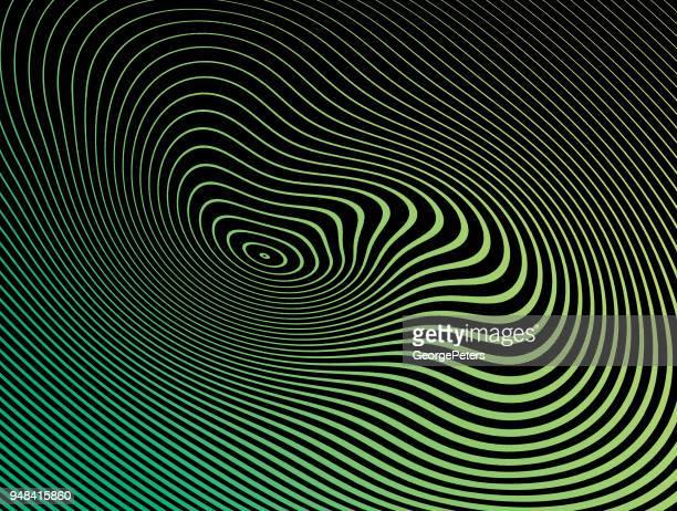 Modèle de demi-teintes, Abstract Background des lignes ondulées, ondulés