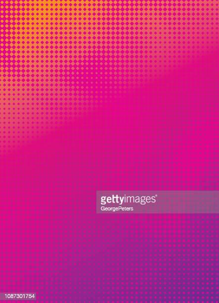 halftone pattern abstract background - farbiger hintergrund stock-grafiken, -clipart, -cartoons und -symbole