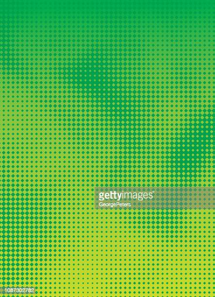 halftone pattern abstract background - green colour stock illustrations