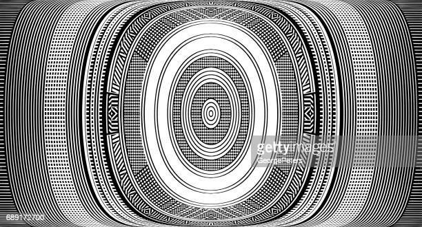 ハーフトーン パターンの抽象的な背景