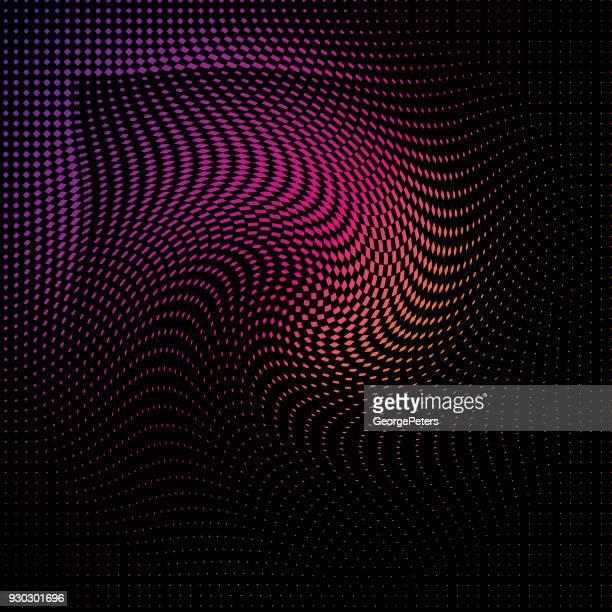 illustrazioni stock, clip art, cartoni animati e icone di tendenza di halftone pattern abstract background - cambiare colore