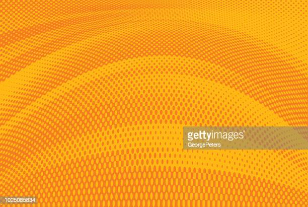 halftone pattern dot gradient background - orange color stock illustrations