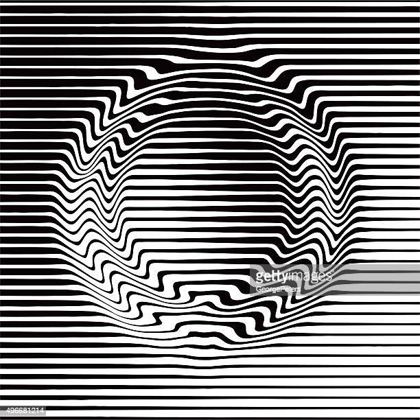 Padrão de Meio-tom Gradiente em círculo