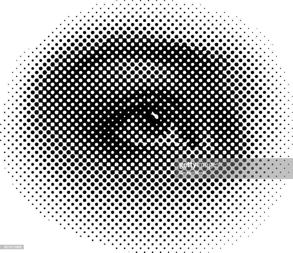 Halftone Pattern illustration of a young woman's eye