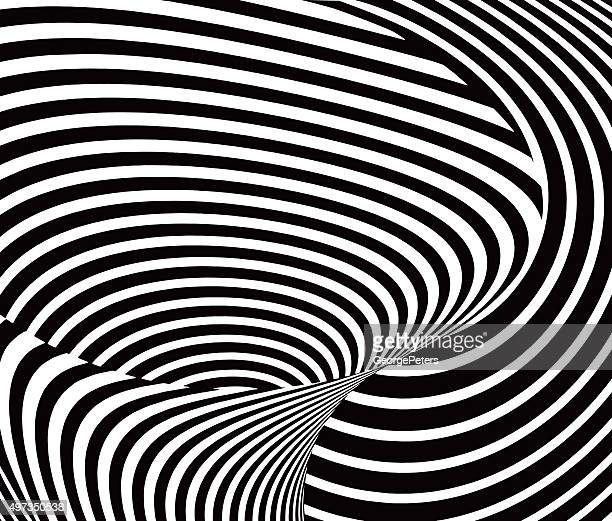 halftone pattern of bold stripes creating a vortex shape - spinning stock illustrations
