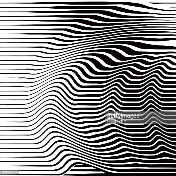 Similgravure motif de lignes ondulées, Bleu marine