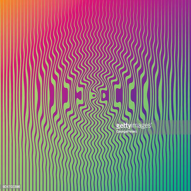 ilustrações de stock, clip art, desenhos animados e ícones de halftone pattern pond ripple - op art