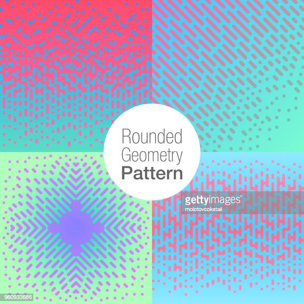 halftone pattern set - cool attitude stock illustrations