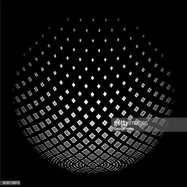 halftone pattern sphere - dissolving stock illustrations, clip art, cartoons, & icons