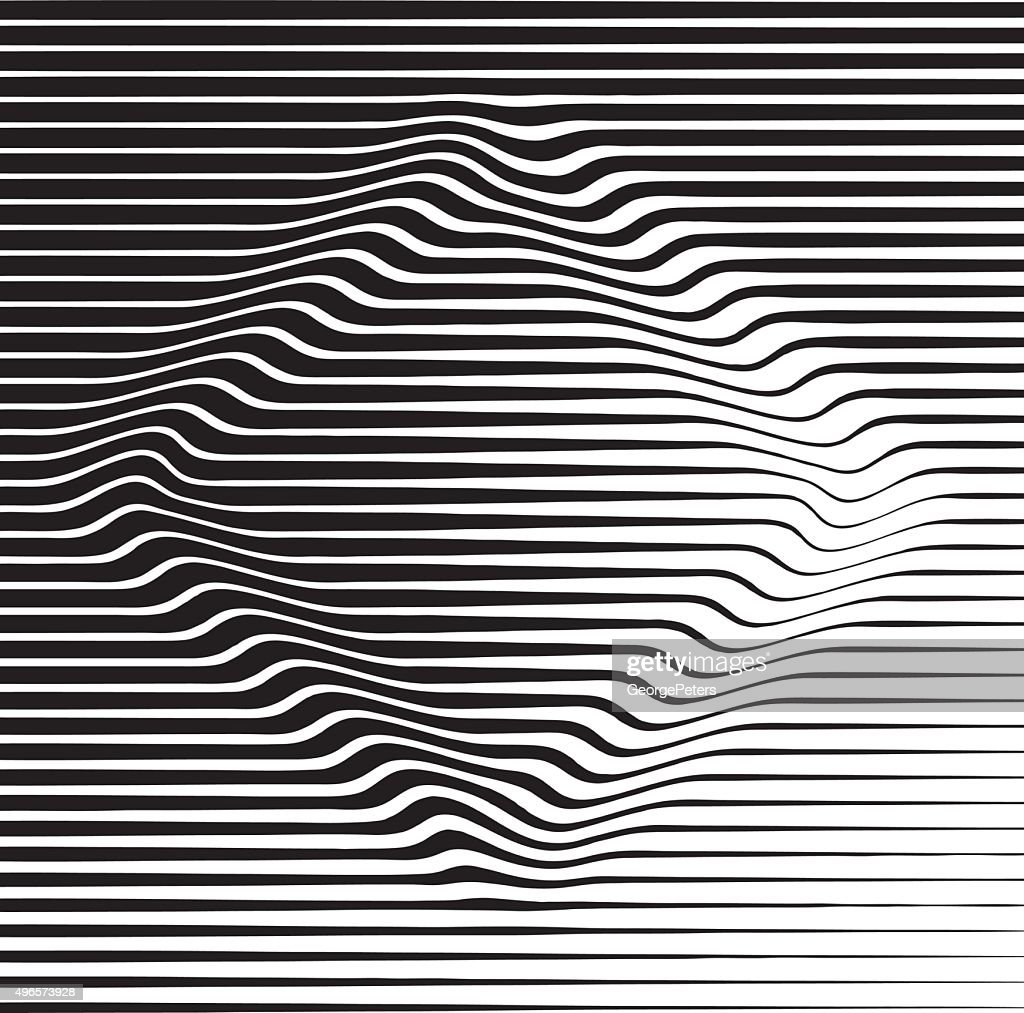 Halftone Pattern Stripes on Diamond Shape