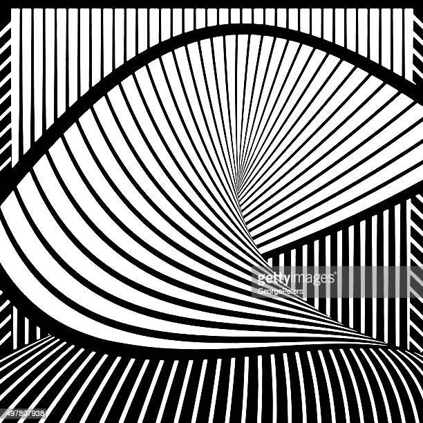 illustrazioni stock, clip art, cartoni animati e icone di tendenza di mezzitoni con motivo intrecciato, wavey sfumate - arco architettura