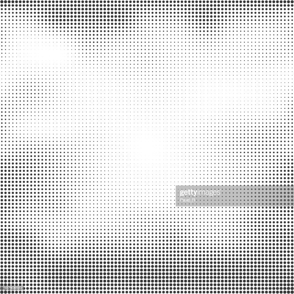 Halftone seamless vector background. Abstract halftone effect with black dots