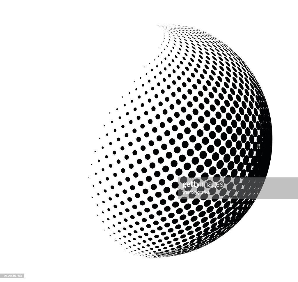 halftone shape vector logo symbol, icon, design.