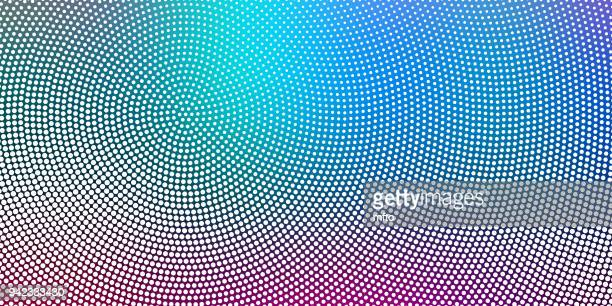 halftone spotted background - red and blue background stock illustrations