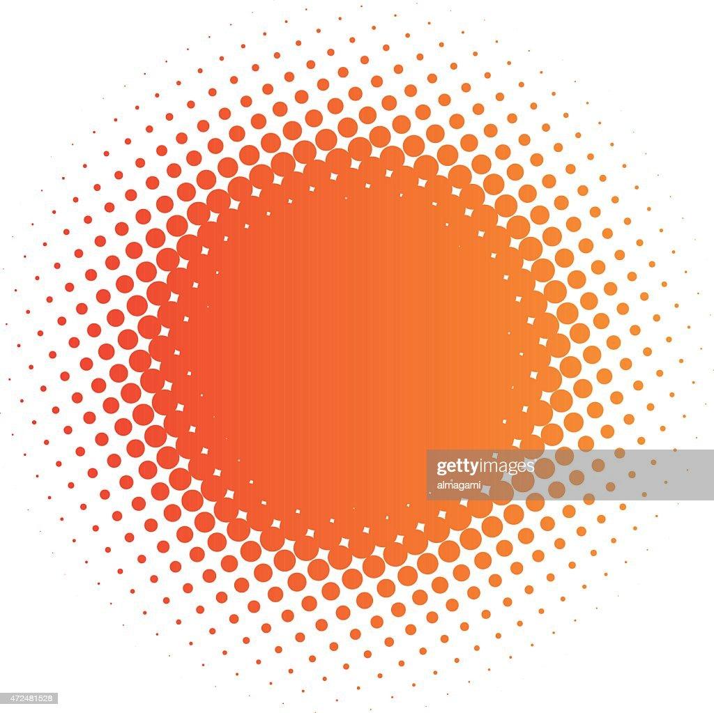 halftone sun