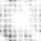 Halftone vector background. Abstract halftone effect with black dots on