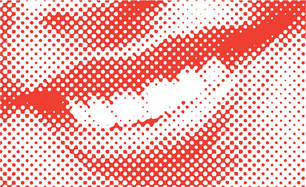 halftone vector smile - lips stock illustrations